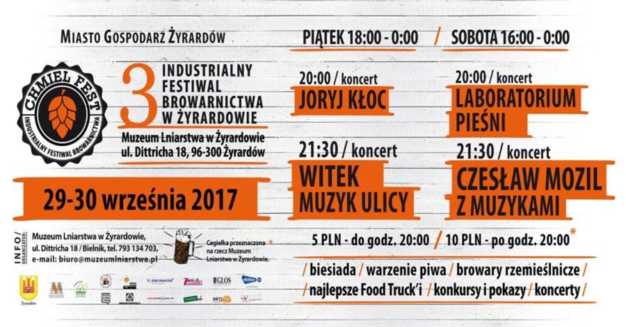 29-30.09.2017 – Chmiel Fest – III Industrialny Festiwal Browarnictwa