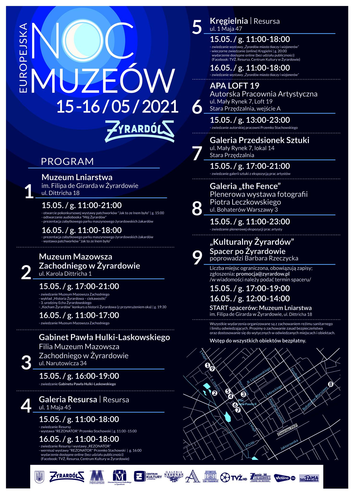 noc muzeów 2021 szczegółowy program